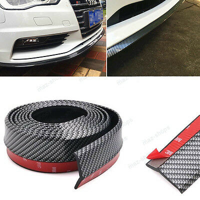 "PU Carbon Fiber 98"" Car Front Bumper Lip Splitter Spoiler Chin Lip Skirt For VW"