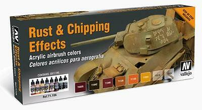Vallejo Model Air Rust & Chipping (Special Set) Acrylic Paint Set 71186