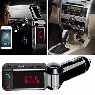 Car Bluetooth Wireless Radio FM Transmitter Stereo MP3 Player USB Charger New UK