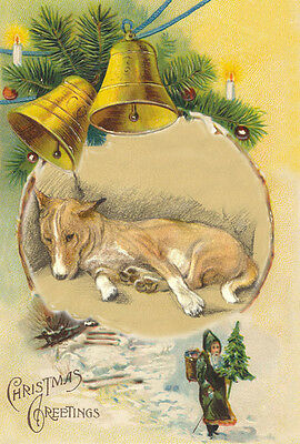 Basenji  Dog by by Lucy Dawson (MAC) 1946 ~ New  Large Christmas Note Cards