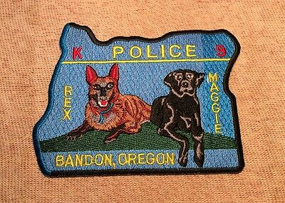OR Bandon Oregon K9 Police Patch