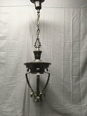 Vintage Pendant Ceiling Light Fixture Shabby Old Victorian Chic 279-17E