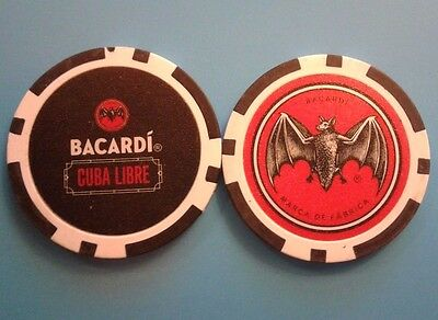 BACARDI CULA LIBRE promotion CHIP Poker Casino Bar token Puerto Rico