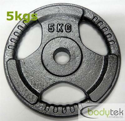 5Kg Standard Hammertone Weight Weights Plate EZ Grip Home Fitness Gym Pickup Ok