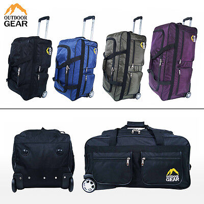 Outdoor Gear Wheeled Holdall Trolley Suitcase Luggage Travel Holiday Bag SIZES