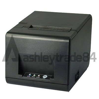 NEW Thermal Receipt Printer USB/SERIAL 80mm POS 160mm/sec Auto Cutter 220V