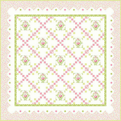 Fabric MODA Quilt Kit ~ GUERNSEY ~ by Brenda Riddle