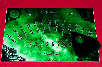 Ouija Board game & Planchette with instruction Pagan EVP Ghost Spirit hunt Magic