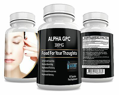 Alpha GPC 60 caps 300mg memory mood & mind nutritional dietary food supplement