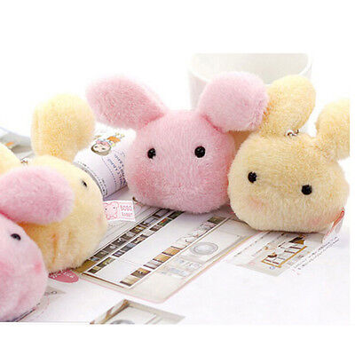 Kawaii 7cm Fluffy Plush rabbit Stuffed Doll Toy Kid's Wedding gift plush toys