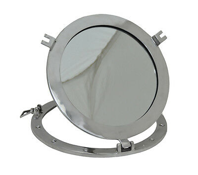 12 Inch Maritime Porthole Ships Beach Home Décor Brass Cabin Window Wall Mirror