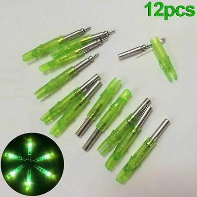12x 6.2mm Automatically Lighted Arrow Nock For Archery Hunting Shooting Hot Sale