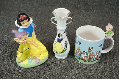 "Disney Sleeping Beauty 6.5"" Porcelain Vase, Mug And Plastic Figurine"