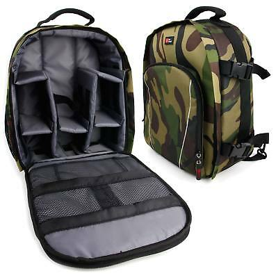 Camouflage Backpack w/ Raincover for Celestron ECLIPSMART 10X25 SOLAR,