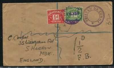 Tristan Great Britain Postage Dues 1938