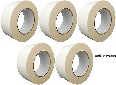"""Five (5) Rolls Double Sided Grip Tape 2"""" x 36 Yards-Regripping Golf Clubs/Grips"""