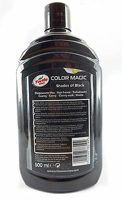 Turtle Wax Colour Magic Car Cleaner Restorer Polish 500ml Shades of Jet Black