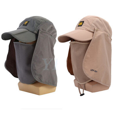 Hiking Fishing Hat Outdoor UV Sun Protection Hat Neck Face Flap Cap Wide Brim