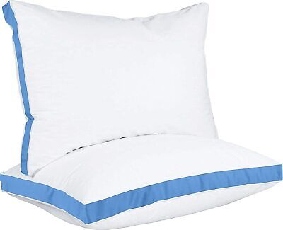 Gusseted Quilted Pillow For Sleeping  2 Pack Hypo Allergenic - Utopia Bedding