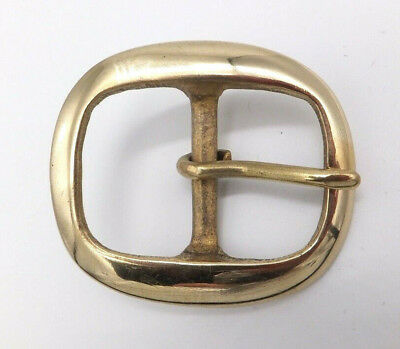 "Solid Brass [ 1-1/4"" - 32 mm ] BRIDLE Belt Buckle Leather craft 1 - 2 - 5 -10"