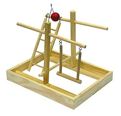 Parrot Play Gym Amusement Toy Fun of Parakeets Natural Wood Small 25 x 26 cm