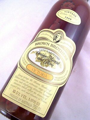 1999 BROWN BROTHERS Orange Muscat & Flora A Isle of Wine