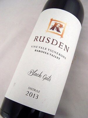 2013 RUSDEN Barossa Valley 'Black Guts' Shiraz Isle of Wine