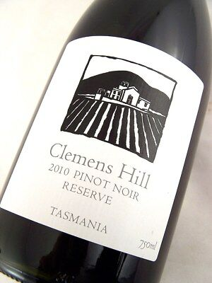 2010 CLEMENS HILL Tasmanian Pinot Noir Reserve Isle of Wine