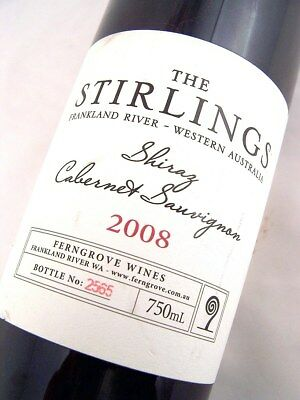 2008 FERNGROVE 'THE STIRLINGS' Frankland River Shiraz Cabernet Isle of Wine