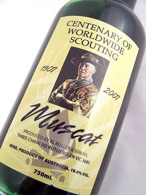 2007 circa NV R L BULLER & SON Centenary Worldwide Scouting Muscat Isle of Wine
