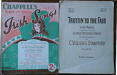 Two Vintage Sheet Music Books For Irish Songs