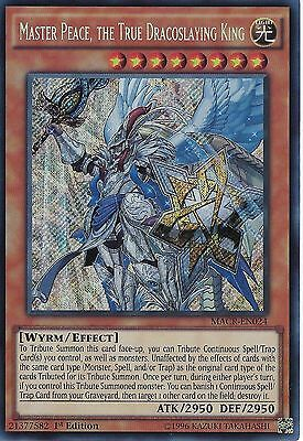 YUGIOH: MASTER PEACE, THE TRUE DRACOSLAYING KING -SECRET RARE -MACR-EN024 1st ED