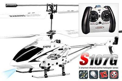Syma S107G Remote Control Gyro Indoor Helicopter 3channel - White