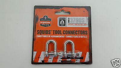 Ergodyne Squids Tool Connectors Shackles 15 lbs 3790S Small (1 Pack of 2)