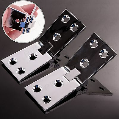 2 x QUALITY CHROME PLATED BRASS COUNTERFLAP HINGE 32mm Bar/Pub Counter Flap