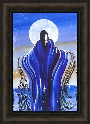 MAY MOON by Betty Albert 16x22 FRAMED PRINT Native American Indian Woman Art HCD