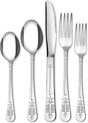 20 Piece Flatware Silverware Cutlery Set Stainless Steel Service for 4