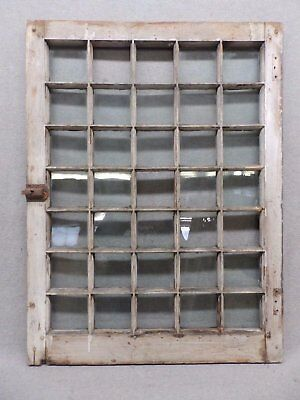 Antique 35-Lite Pane Window Sash Cabinet Door 24x32 500-17R