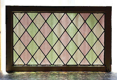 Large Antique Stained Glass Window Three (3) Colors (3013)
