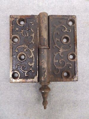 Pair Antique Cast Iron Victorian Gravity Lift Off Door Hinge RH 4x4 502-17R