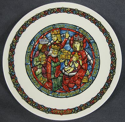 The Adoration of Kings Collector Plate Andre Restieau Stained Glass Christmas