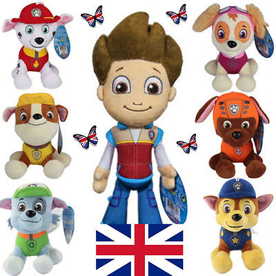 8 Inch PAW PATROL Plush Dogs PUP SKYE Chase Ryder Toys Child Teddy Doll UK STOCK