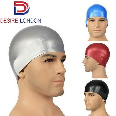 Long Hair Swimming Cap Larger Sized Moulded Silicone Swim Cap