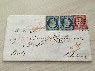VENTE PRINTEMPS 2#LOT237: lettre n°6 Ceres n°10 Palerme Sicile red cancel cover
