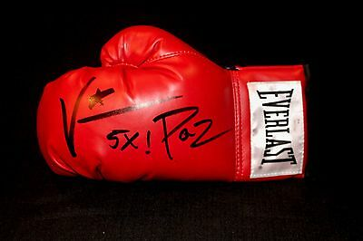 Vinny Paz Autographed/Signed Authentic Everlast Red Boxing Glove JSA