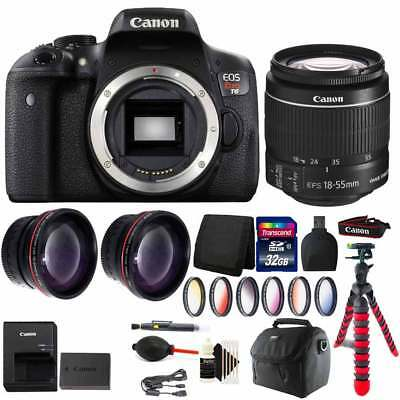 Canon EOS Rebel T6 18MP DSLR Camera with EF-S 18-55mm and Full Accessory Bundle