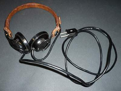 Unused_OLD_High_Impedance_(Z=4000 Ohms)_Military_Headphone - A_[=T=]