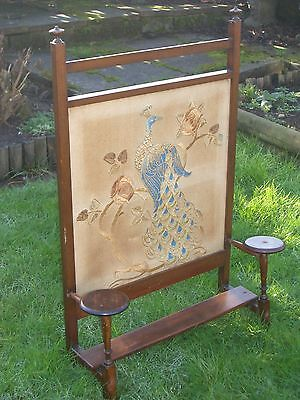 Vintage 1940s Wooden Fire Screen
