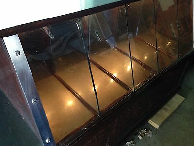 Antique, 1910, wood and glass display case, 8 compartments, perfect condition.
