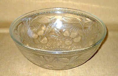 US Glass Cherryberry Clear Depression Large Fruit Bowl Serving Bowl